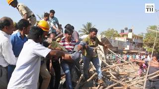 Dharwad building collapse | Man walks out alive after being trapped for four days