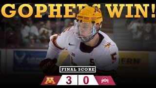 Highlights: Gopher Hockey Defeats Ohio State in B1G Semifinals