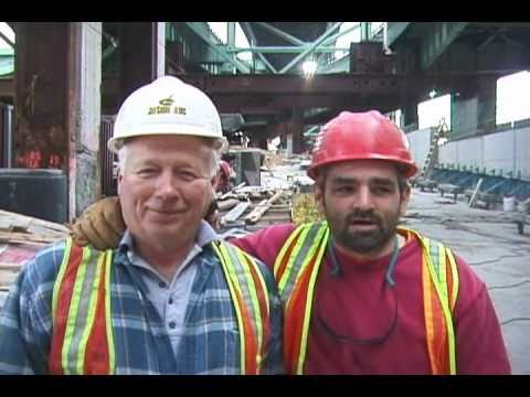 JOE SHOWS U THE LAST CONCRETE POUR ON BOSTON'S I-93 BIG DIG PROJECT . Joe Practice™