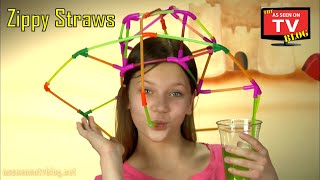 Zippy Straws As Seen On TV Commercial Buy Zippy Straws As Seen On TV Drinking Straw Building Toy