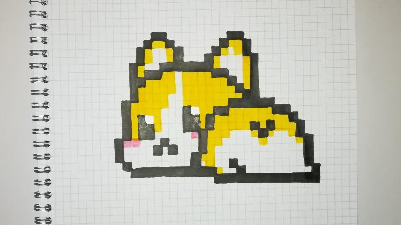 Pixel Art Chien Shiba Kawaii Facile Youtube