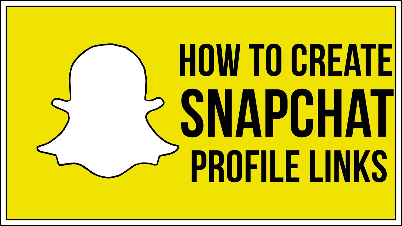 How To Create Snapchat Profile Links - Direct SNAPCHAT LINK - YouTube