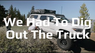 High Centering a Toyota Tacoma While Overland Camping - Maxx Powell