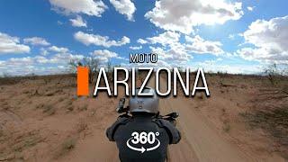 На мотоцикле по штату Аризона   360 видео