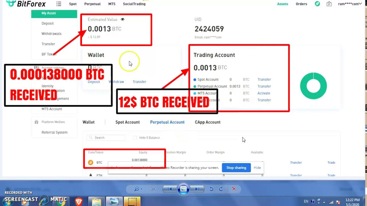 AIRDROP I 12$  BTC RECEIVED AT BITFOREX.COM I 15,000,000 CAPP Giveaway I MUST COMPLETE KYC I JOIN...