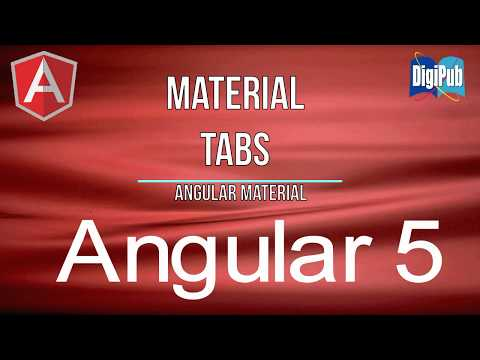 How to use Angular Material Tabs for Angular5 - YouTube