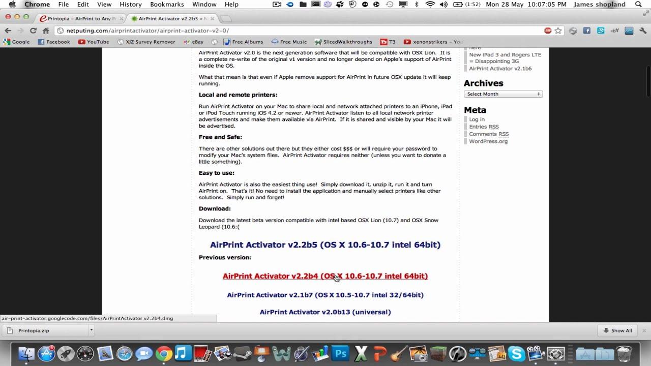 airprint activator windows 7 anleitung