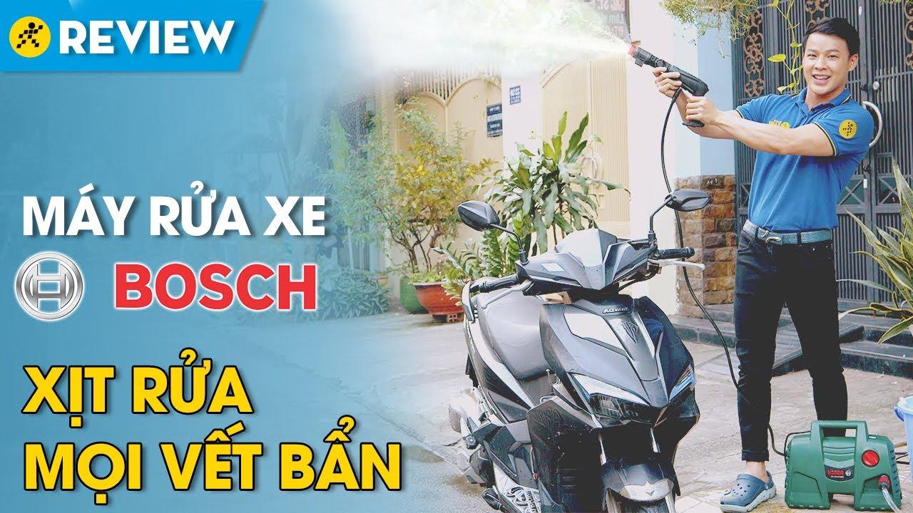 Máy phun xịt rửa áp lực cao Bosch: xịt bọt tuyết từ xà phòng cực sạch (Easy AQT 100) • Điện máy XANH