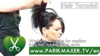 Wedding Hairstyle Updo parikmaxer tv engl