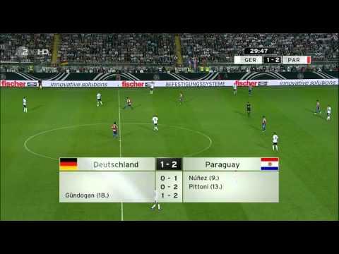 20130814 Friendly Germany 3-3 Paraguay 1ST HALF