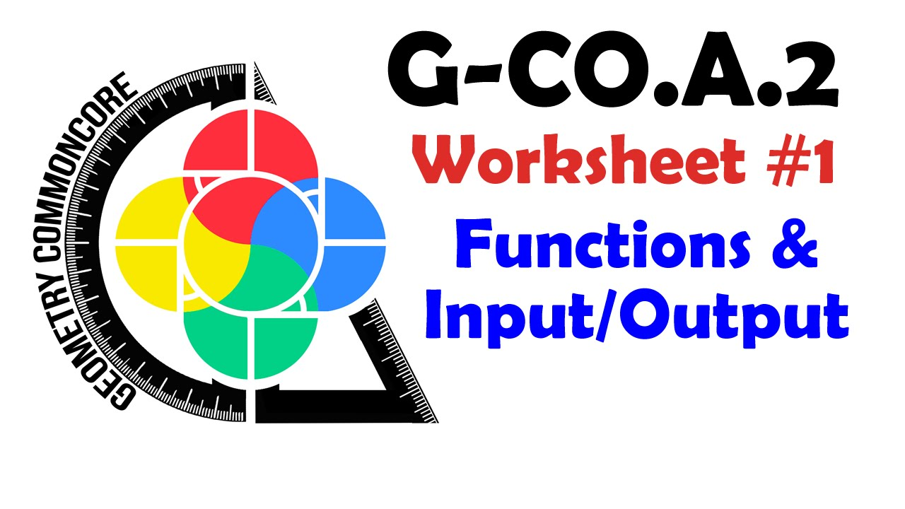 g co a 2 worksheet 1 functions input output youtube. Black Bedroom Furniture Sets. Home Design Ideas