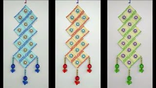 DIY - AWESOME WALL TORAN CRAFT MAKING FROM MATCHSTICK || BEAUTIFUL MATCHSTICK CRAFT FOR WALL TORAN