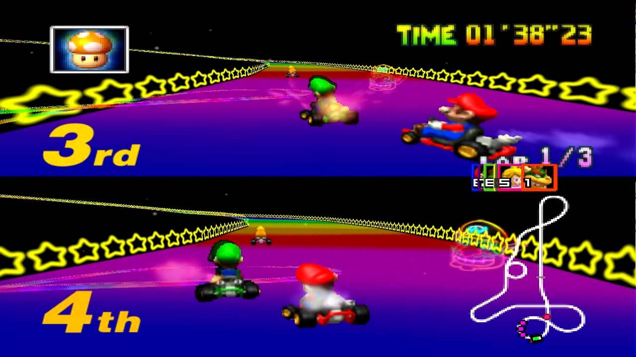 Mario Kart 64 Special Cup 2 Players Mario Luigi Youtube
