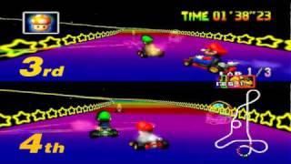 Mario Kart 64 - Special Cup 2 Players: Mario & Luigi