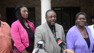 Kareem and Katrina Singleton, Khalil Singleton's mother and father, react after Tyrone Robinson is convicted of murder Sept. 19, 2014, in the 2012 shooting death of their son on Allen Road on Hilton Head Island. Robinson received life in prison without parole.