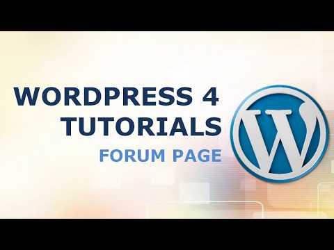 FORUM website - WP Wordpress Course & tutorial #7