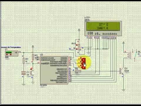 Temp controller using pic with proteus simulationavi  YouTube