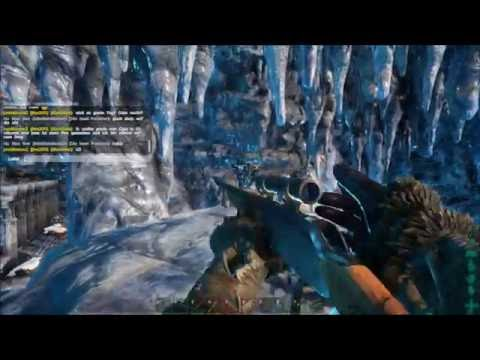 ARK Survival Evolved : The Center. Solo North Ice cave walktrough 2 Artefacts no cuts