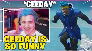 "NINJA Reacts To *CEEDAY* ""Ninja Skin Stays on During Secks""!"