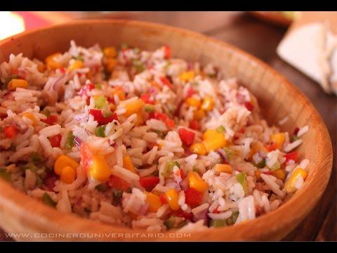 Ensalada de arroz con at n youtube - Ensalada de arroz light ...