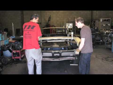 Installing One Piece Trunk Panel 1972 Chevelle Youtube