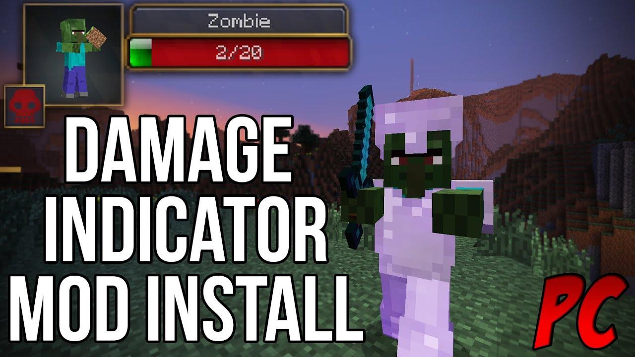 Скачать мод для Майнкрафт 1.5.2 Damageindicators