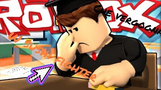 He did it on me at school 😂😂 roblox w/sushi fighter