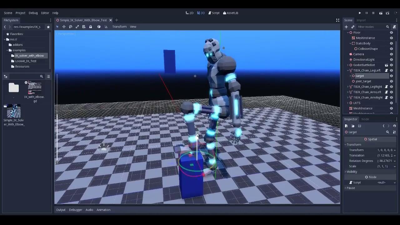 (Godot 3) GDScript IK progress 3