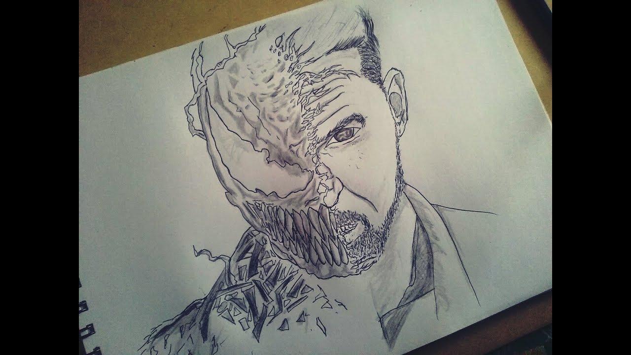 Drawing Dibujo Venom Tom Hardy Pelicula Art Reces