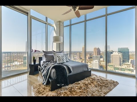 Modern Penthouse Condo In Atlanta Georgia 855 Peachtree Street Unit 3602