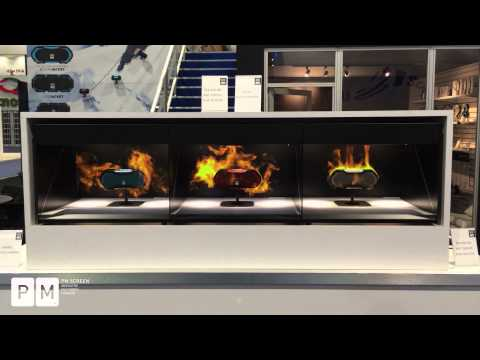 PM Screen - Altec Lansing 3D Hologram Projection,  CES International 2015  ( long version)