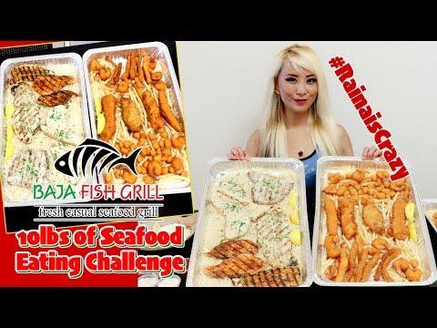 10lbs Of Seafood Eating Challenge Ft. Freakeating @ Baja Fish Grill | Harbor City | RainaisCrazy