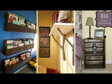 💓 5 Simple DIY Wood Project Ideas for More Organized Bedroom 💓