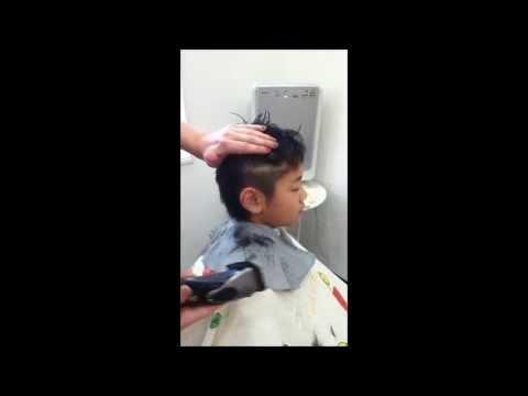 プロが教える!!子供のヘアカット 散髪、男の子、バリカン、2ブロック舞鶴市 hair salon h-01 エイチゼロワン 美容室