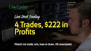 Live Day Trading – 4 Trades, $222 in Profits