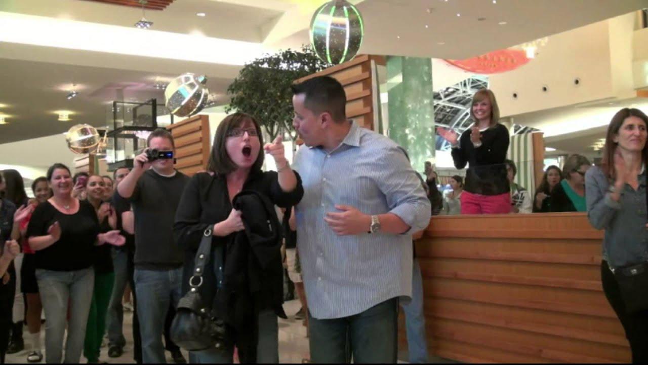 6b548814a4371a Flash Mob Wedding Proposal - Millenia Mall - Orlando Florida - One Direction