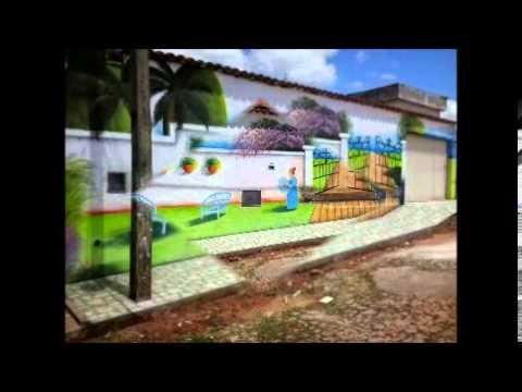 Par de minas pinturas artisticas em muros e paredes de for Paredes artisticas