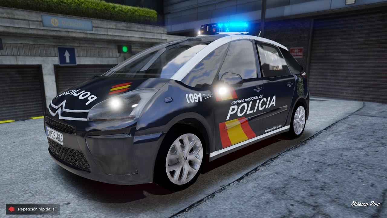 Gta V Ls R Dia 50 Citroen C4 Picasso Policia Nacional