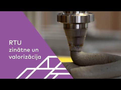 RTU 3D betona drukāšanas zinātniskā laboratorija
