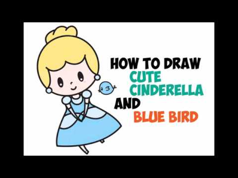 How To Draw Cinderella Easy Step By Step Drawing For Kids Cute