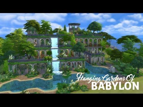 Sims 4 Speed Build | Hanging Gardens Of Babylon | Part 1 - YouTube