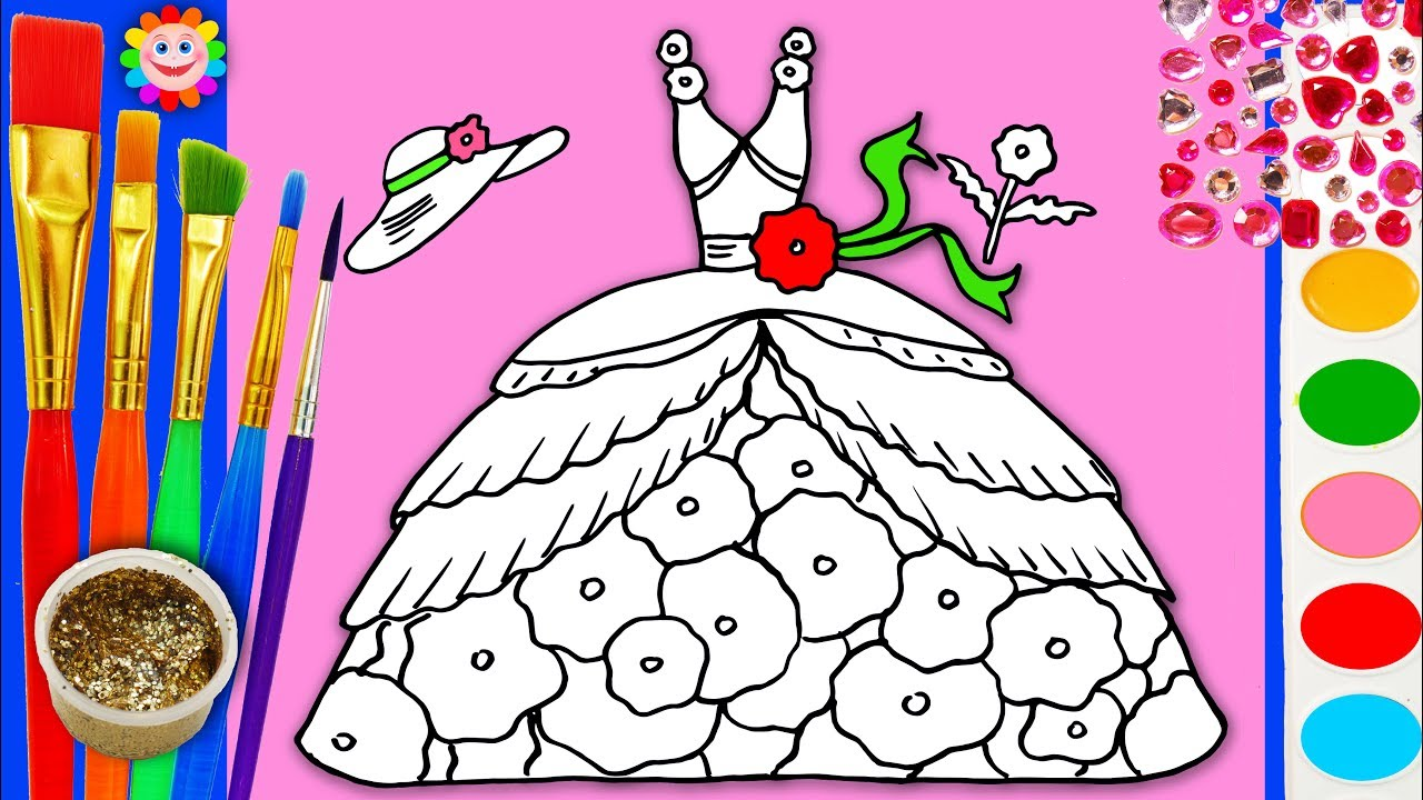 Coloring dress up barbie clothing coloring pages for girls for Barbie dress up coloring pages