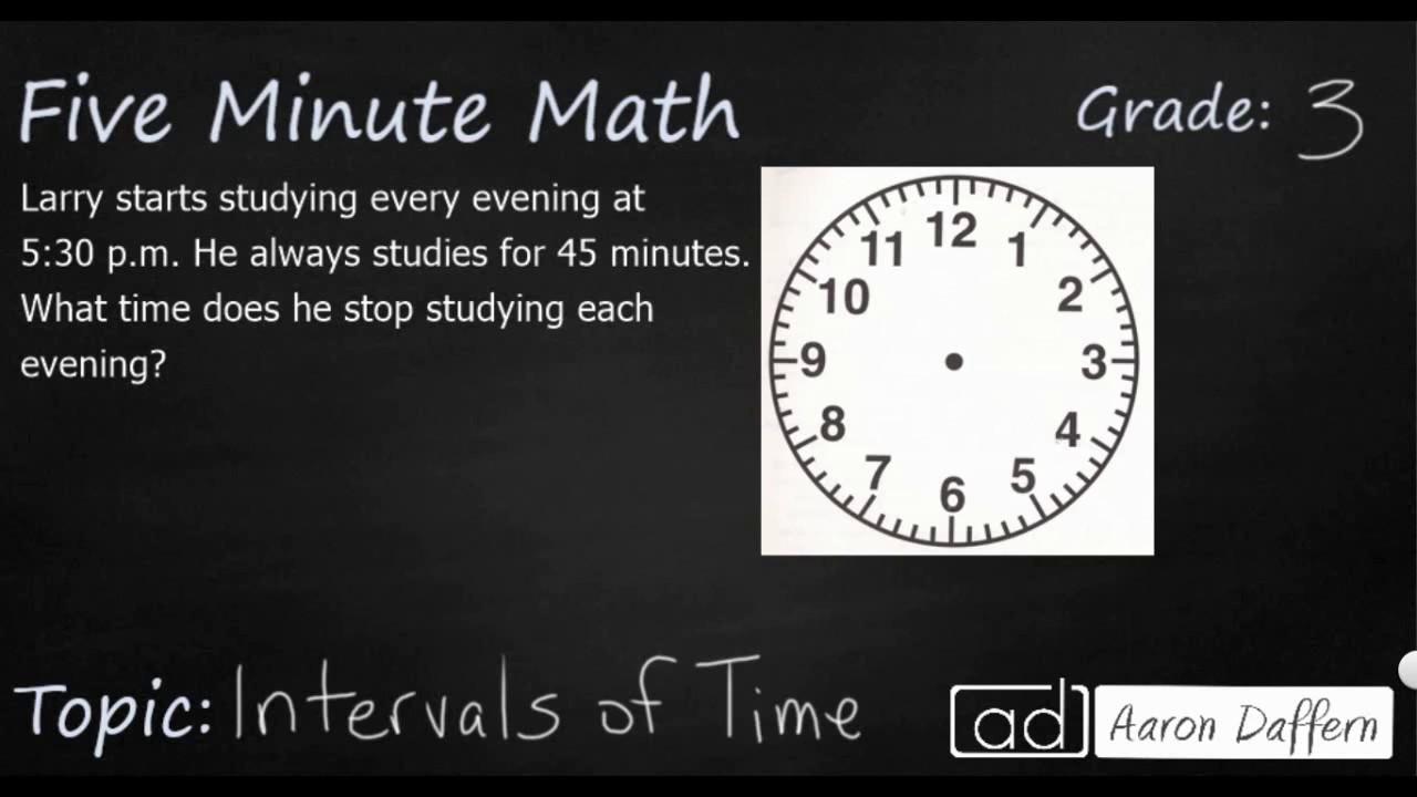 3rd Grade Math - Time Intervals