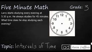 3rd Grade Math Intervals of Time