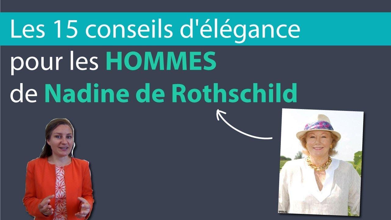 Guide Des Bonnes Manieres Rothschild les 15 conseils d'élégance pour les hommes de nadine de rothschild, la  baronne des bonnes manières