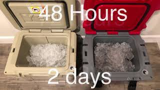 Yeti vs Kong coolers full ice test and comparison