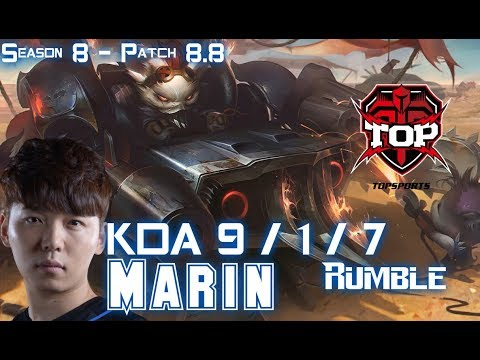 TOP MaRin RUMBLE vs GANGPLANK Top - Patch 8.8 KR Ranked