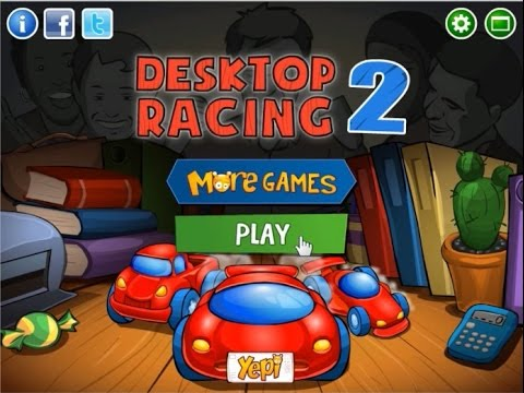網頁遊戲:桌面賽車2 (動作賽跑類) Web Game : Desktop Racing 2 - YouTube