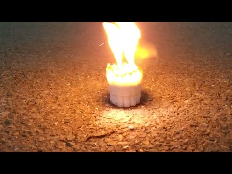 Amazing Water And Calcium Carbide Reaction(science Experiment)