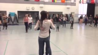 International Academy ballroom and latin dance class